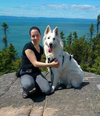 Ma chienne Kala et moi-même!